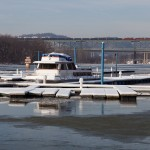 BLE 902 north crossing the Allegheny River, seen from the Cheswick Marina