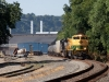 Reading Heritage NS 1067 SD70ACe leads oil train 64X at Natrona Heights