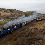 MRL 844 Local with a pair of GP35s, MRL 406-MRL 403,